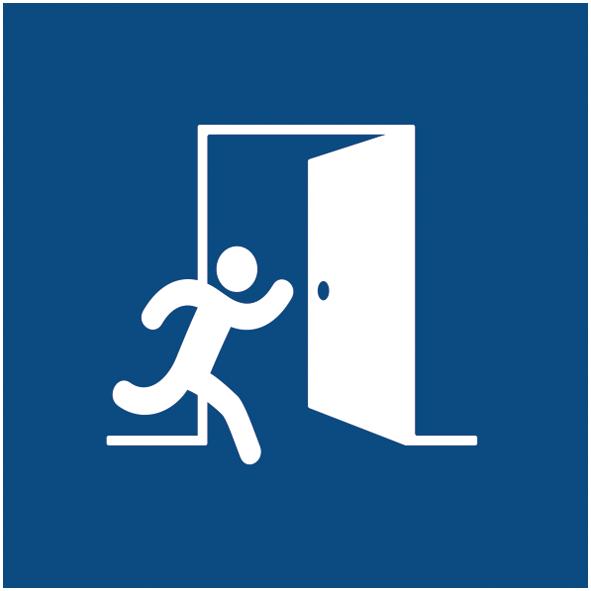 Zacher Fluchtplan DIN ISO 23601